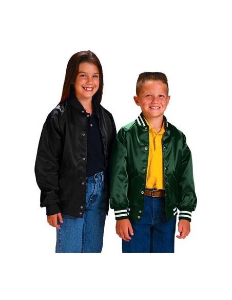 Satin Baseball Jacket (Light Lined) - Youth Version